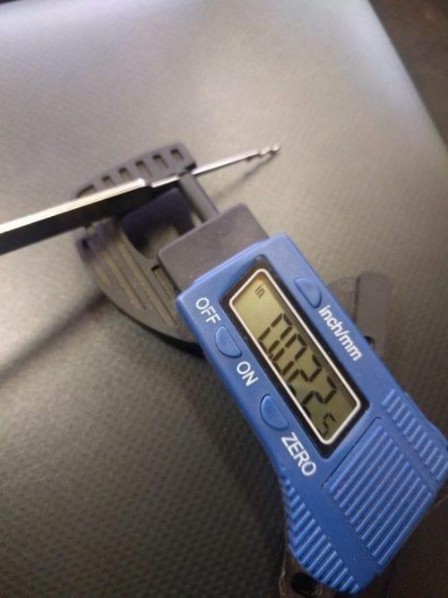 Southord Slimline Measurement