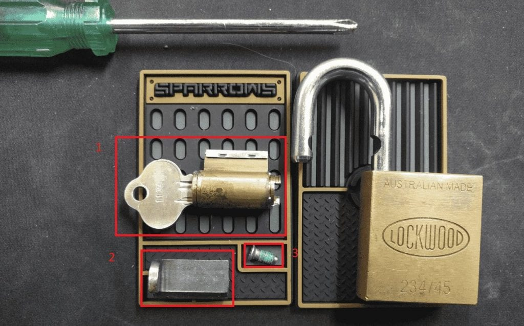 disassembling locks