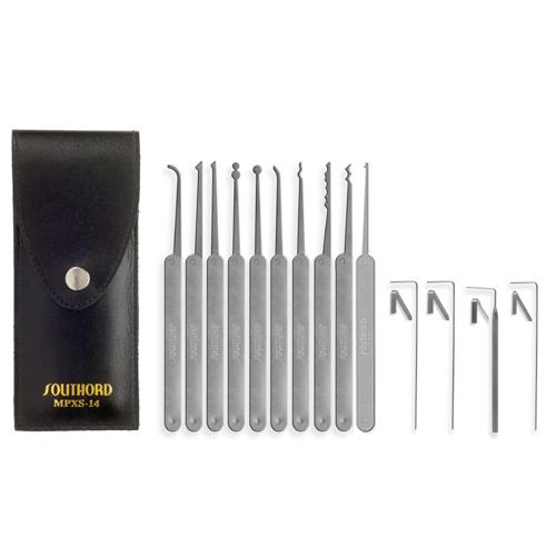 Southord Fourteen Piece Lock Pick Set With Metal Handles - MPXS-14