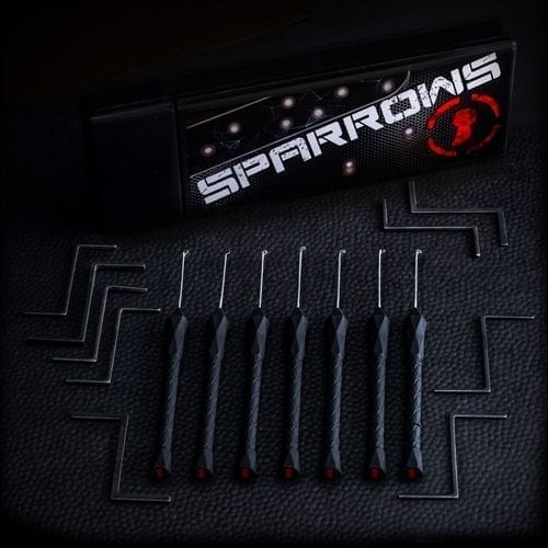 Sparrows Black Flag Dimple Picks