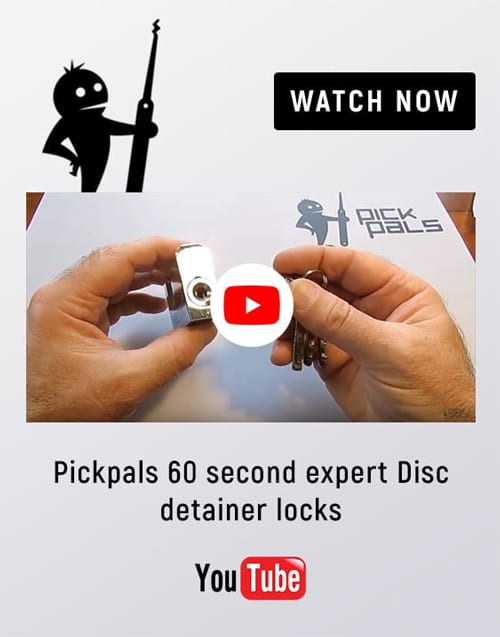 Pickpals 60 second expert disc detainer locks