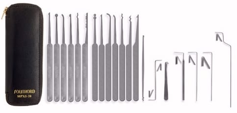 SouthOrd Twenty Piece Deluxe Lock Pick Set